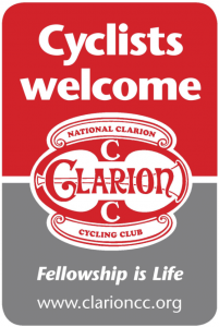 Cyclists welcome sticker