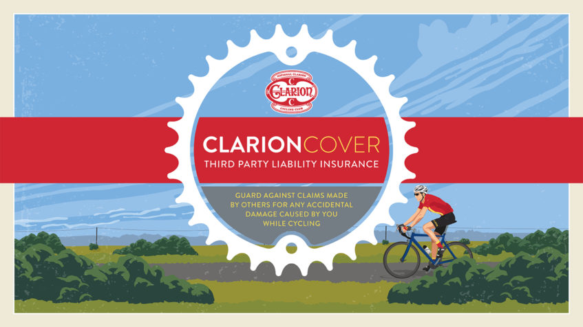 Clarion Cover Third Party Insurance available to National Clarion Cyclists for just £12